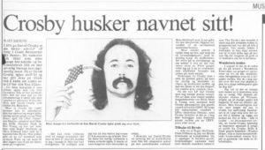 Slik så intervjuet ut i Adresseavisen, da det ble publisert. (Foto: faksimile)