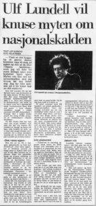 Intervjuet, slik det sto på trykk i Bergens TIdende desember 1985 (faksimile)