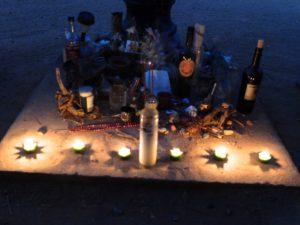 Lys til minne av Gram Parsons (Foto: Leif Gjerstad)